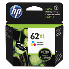 HP 62XL, (C2P07AN) High Yield Tri-color Original Ink Cartridge