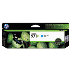HP 971XL, (CN626AM) High Yield Cyan Original Ink Cartridge