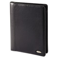 Padfolios, Bi-Fold Closure, 8 1/2 x 11, Black