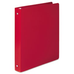 "ACCOHIDE Poly Round Ring Binder, 35-pt. Cover, 1"" Cap, Executive Red"