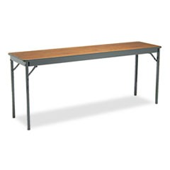 Special Size Folding Table, Rectangular, 72w x 18d x 30h, Walnut/Black