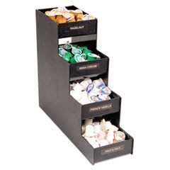 Narrow Condiment Organizer, 6w x 19d x 15 7/8h, Black