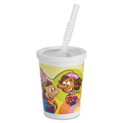Kids Cold Cups, Plastic, 12 oz, Multi-color