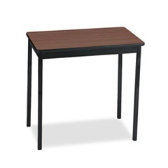 Utility Table, Rectangular, 30w x 18d x 30h, Walnut/Black