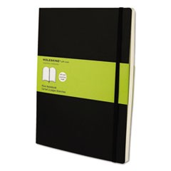 Classic Softcover Notebook, Plain, 10 x 7 1/2, Black Cover, 192 Sheets