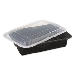 VERSAtainers, Black/Clear, 38oz, 6w x 8 1/2d x 2h, 150/Carton
