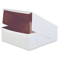 Bakery Boxes, White, Paperboard, 14 x 14 x 5, 50/Carton