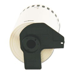 "Continuous Length Shipping Label Tape for QL-1050, 4"" x 100 ft Roll, White"