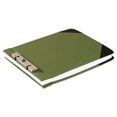"Canvas Sectional Storage Post Binder, 2 Posts, 3"" Capacity, 8.5 x 11, Green"