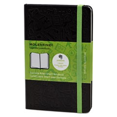 Ruled Evernote Smart Notebook, 3 1/2 x 5 1/2, Black Cover, 192 Sheets