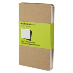 Cahier Journal, Plain, 5 1/2 x 3 1/2, Kraft Brown Cover, 64 Sheets