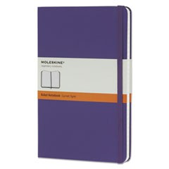 Hard Cover Notebook, Ruled, 8 1/4 x 5, Brilliant Violet Cover, 240 Sheets