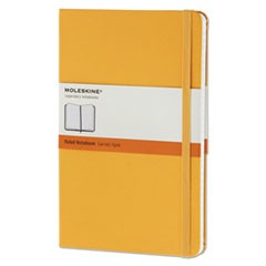 Hard Cover Notebook, Ruled, 8 1/4 x 5, Orange Yellow Cover, 240 Sheets