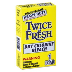 Heavy Duty Coin-Vend Powdered Chlorine Bleach, 1 load, 100/Carton