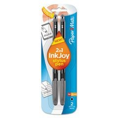 InkJoy 100 Stick Stylus Ballpoint Pens, 1.0 mm, Black, 2/Pack