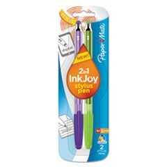 InkJoy 100 Stick Stylus Ballpoint Pens, 1.0 mm, Assorted, 2/Pack
