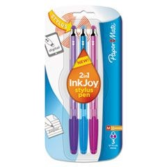 InkJoy 100 Stick Stylus Ballpoint Pens, 1.0 mm, Assorted, 3/Pack