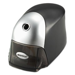 "QuietSharp Executive Electric Pencil Sharpener, AC-Powered, 4"" x 7.5"" x 5"", Black/Graphite"