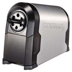 "1Super Pro Glow Commercial Electric Pencil Sharpener, AC-Powered, 6.13"" x 10.63"" x 9"", Black/Silver"