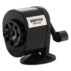 Counter-Mount/Wall-Mount Antimicrobial Manual Pencil Sharpener, Black