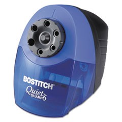 "QuietSharp 6 Classroom Electric Pencil Sharpener, AC-Powered, 6.13"" x 10.69"" x 9"", Blue"