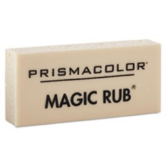 MAGIC RUB Eraser, Rectangular, Medium, Off White, Vinyl, Dozen