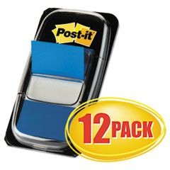 Marking Page Flags in Dispensers, Blue, 12 50-Flag Dispensers/Pack