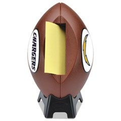 "NFL Football Dispenser, 3"" x 3"", Tan, San Diego Chargers"