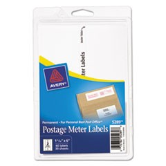 Postage Meter Labels for Personal Post Office, 1.78 x 6, White, 2/Sheet, 30 Sheets/Pack, (5289)