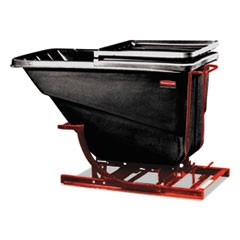 Self-Dumping Hopper, 2 1/2 Cubic Yard, 1000 lb Capacity, Black/Red