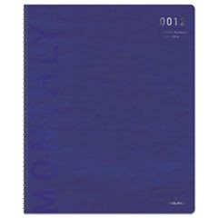 Polished Professional WK/M Wirebound Planner, 5 1/2 X 8 1/2, Blue/Silver, 2016
