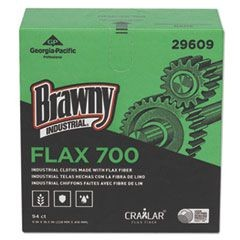 FLAX 700 Medium Duty Cloths, 9 x 16 1/2, White, 94/Box, 10 Box/Carton