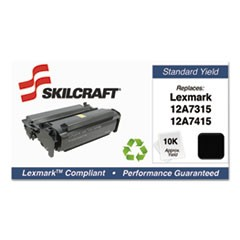 751000NSH1004 Remanufactured 12A7415 High-Yield Toner, Black