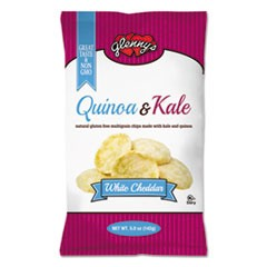 Quinoa & Kale Gluten Free Multi Grain Chips, White Cheddar, 5 oz Bag, 12/Carton