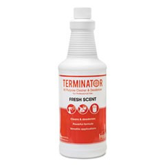 Terminator Deodorizer All-Purpose Cleaner, 32oz Bottles, 12/Carton