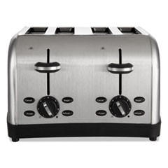 1Extra Wide Slot Toaster, 4-Slice, 12 3/4 x 13 x 8 1/2, Stainless Steel