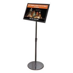 Telescoping Sign Display, 18 3/4 x 13 x 51, Black