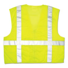 Luminator Safety Vest, Lime Green w/Stripe, XXXL
