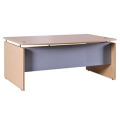 Sedina Series Bow Front Desk Shell, 72w x 42d x 29 1/2h, Maple