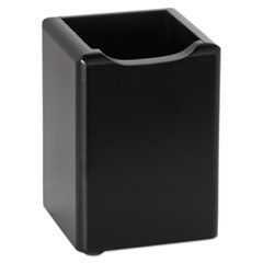 Wood Tones Pencil Cup, Black, 2 3/4 x 2 3/4 x 4