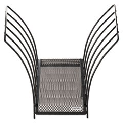 Butterfly File Sorter, Five Sections, Mesh, 12 x 7 1/2 x 10, Black