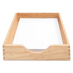 "Hardwood Stackable Desk Trays, 1 Section, Letter Size Files, 10.25"" x 12.5"" x 2.5"", Oak"