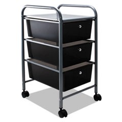 Portable Drawer Organizer, 13w x 15.38d x 25.88h, Smoke/Matte Gray