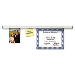 Grip-A-Strip Display Rail, 96 x 1 1/2, Aluminum Finish
