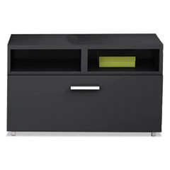 e5 Series Lateral File, 30w x 18d x 21 3/4h, Raven