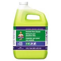 Finished Floor Cleaner, Lemon Scent, One Gallon Bottle, 3/Carton