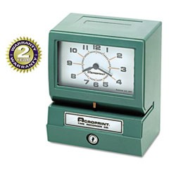 1Model 150 Analog Automatic Print Time Clock with Month/Date/1-12 Hours/Minutes