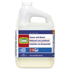 Cleaner with Bleach, Liquid, One Gallon Bottle