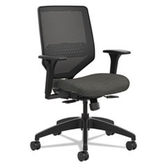 Solve Series Mesh Back Task Chair, Supports up to 300 lbs., Ink Seat, Black Back, Black Base