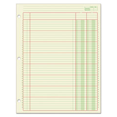 Columnar Analysis Pad, 2 Column, 8 1/2 x 11, Single Page Format, 50 Sheets/Pad